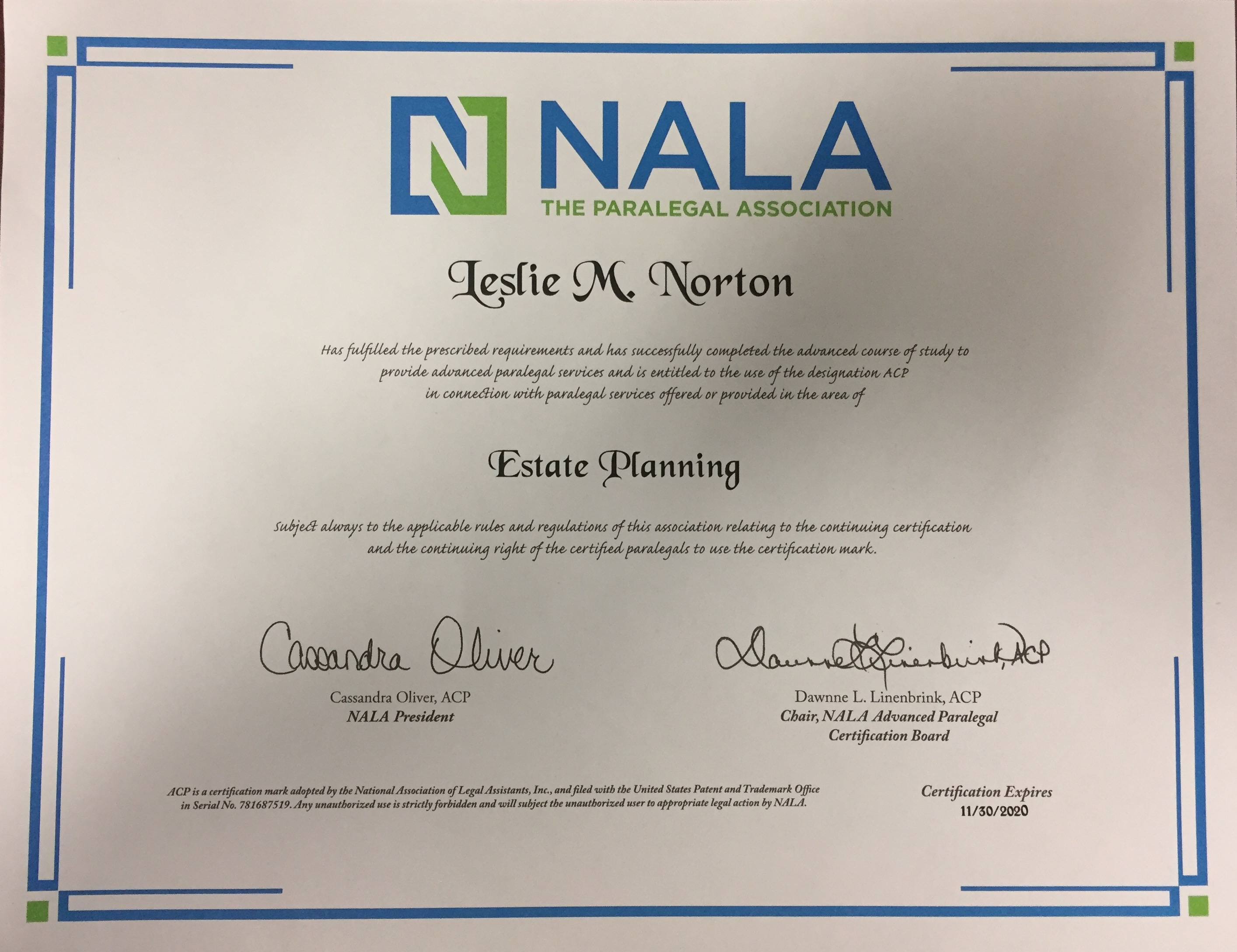 Orlando estate planning lake mary paralegal achieves advanced lake mary paralegal achieves advanced certification in estate planning 1betcityfo Images